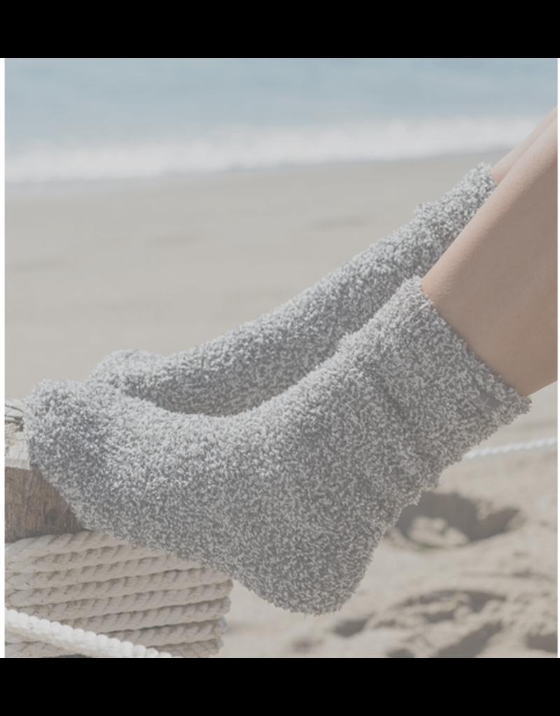 Barefoot Dreams Barefoot Dreams Socks- Graphite/White