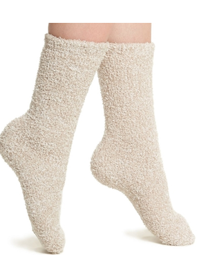 Barefoot Dreams Barefoot Dreams Socks- Stone/White