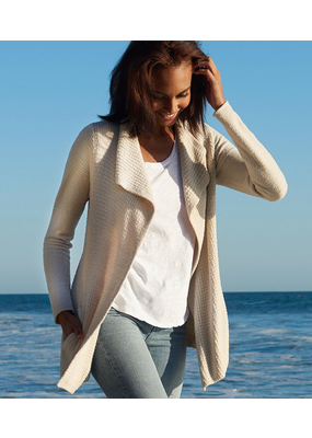 Barefoot Dreams Barefoot Dreams Cozychic Lite Coastal Cardi in Bisque