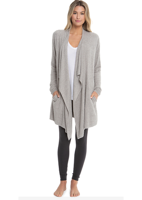 Barefoot Dreams Barefoot Dreams Cozychic Lite Island Wrap in Pewter Silver