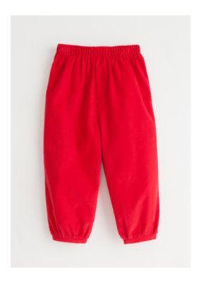 Little English Little English Banded Pull on Pant in Red Corduroy