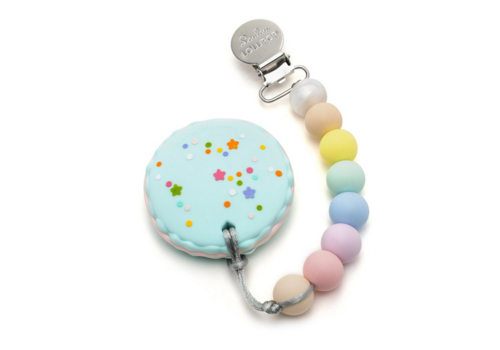 Lou Lou Lollipop LouLouLollipop Macaron teether holder set - cotton candy