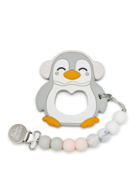 Lou Lou Lollipop LouLouLollipop Gray penguin teether set
