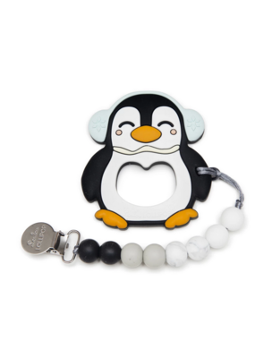 Lou Lou Lollipop LouLouLollipop Black penguin teether set