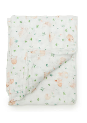 Lou Lou Lollipop Lou Lou Lollipop Muslin Swaddle | Bunny Meadow
