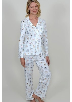 Cotn Frenchie Print PJ