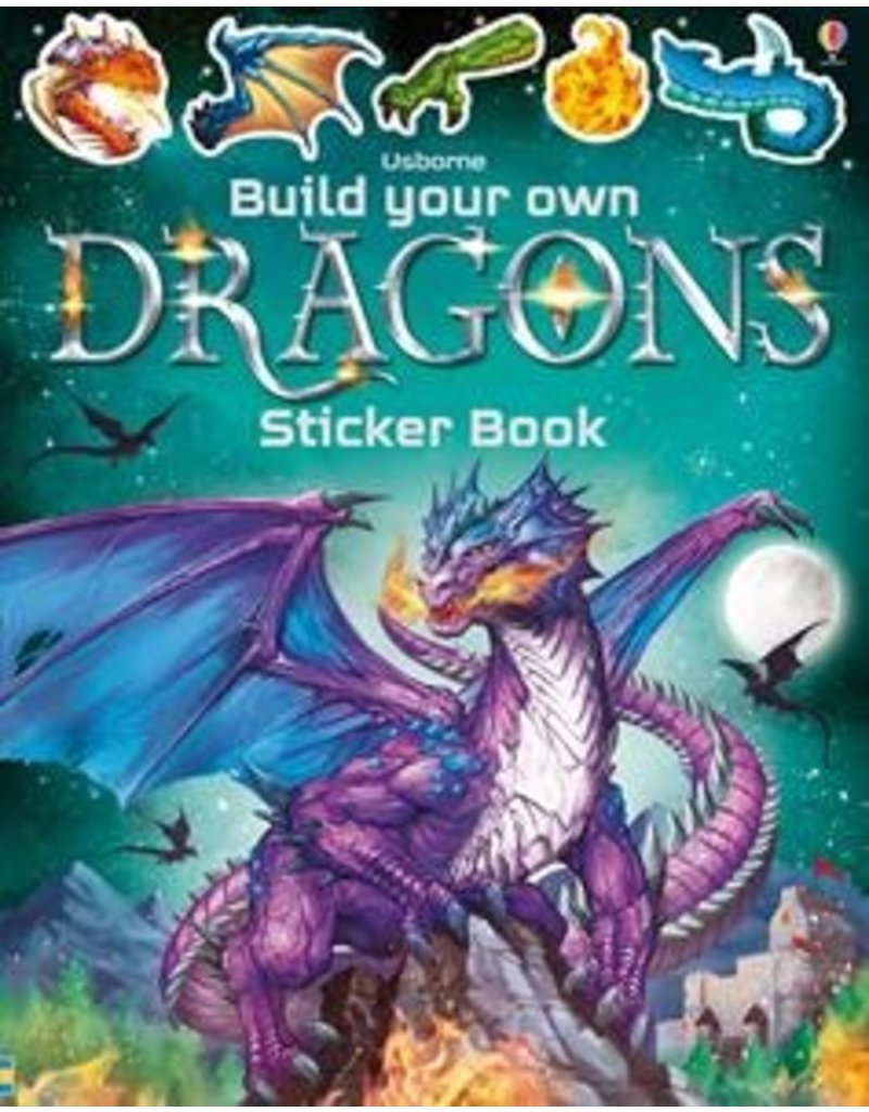 Usborne Build Your Own Dragons Sticker Book