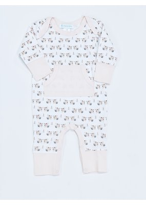 Feather Baby Feather Baby Kangaroo Romper Doves on White