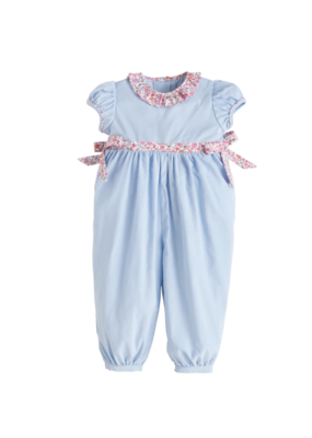 Little English Little English Caroline Bow Romper Light Blue