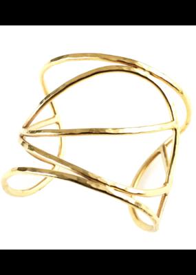 Mickey Lynn Mickey Lynn gold plated brass leaf cuff
