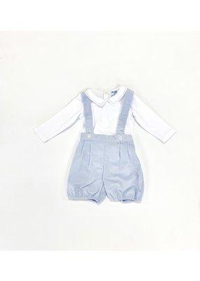 Luli & Me Luli & Me Boy Bubble W/Suspender Shorts