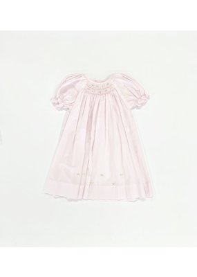 Petit Ami Petit Ami Pink Day Dress With Flowers