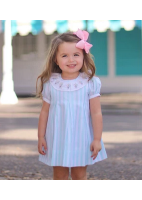 Christian Elizabeth & Co Christian Elizabeth Commander's Dress Aqua/White