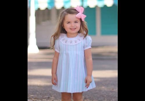 Christian Elizabeth & Co Christian Elizabeth Commander's Dress Aqua/White
