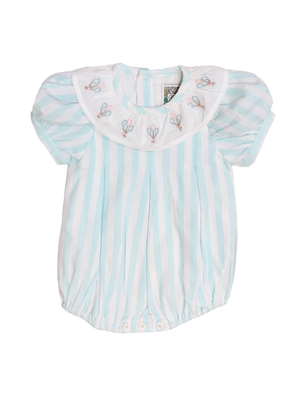 Christian Elizabeth & Co Christian Elizabeth Commander's Bubble Aqua/White