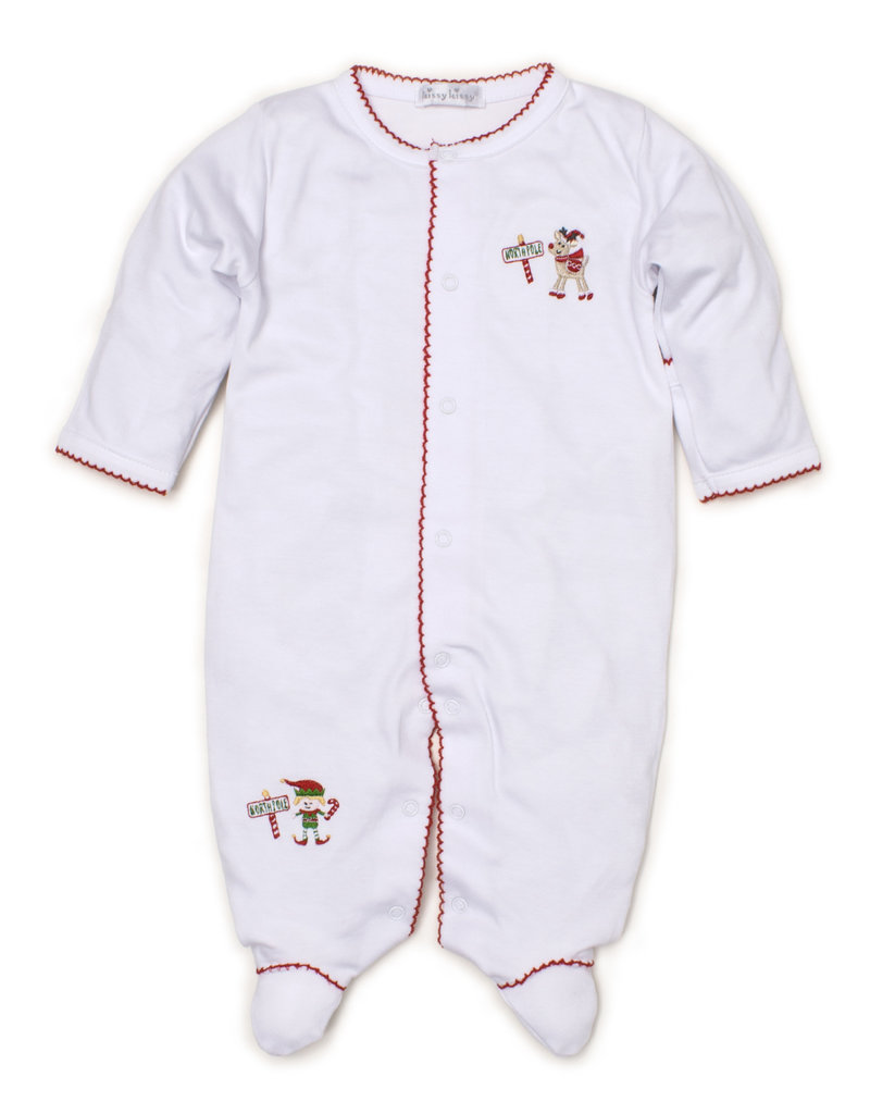 Kissy Kissy Kissy Kissy Footie Holidaze White/Red