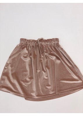 Creamie Velvet Skirt in Rose Smoke