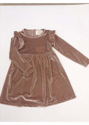 Creamie Creamie Velvet Dress in Rose Smoke