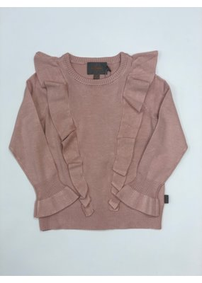 Creamie Creamie Flounce Pullover in Rose Smoke