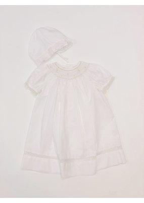 Petit Ami Petit Ami White Daygown w/Hat NB