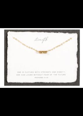 Dear Heart Designs DearHeart Designs Strength Gold Necklace