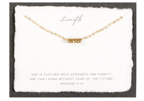 Dear Heart Designs DearHeart Designs Strength Gold Necklace