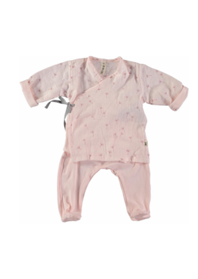 Petit Indi Petit Indi Newborn Pink Dandelion Set