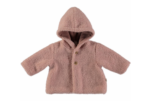 Petit Indi Petit Indi Fuzzy Coat Pink