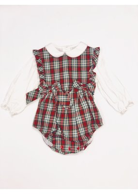 Sophie & Lucas Sophie and Lucas Merry Tartan 2pc Girl Ruffle