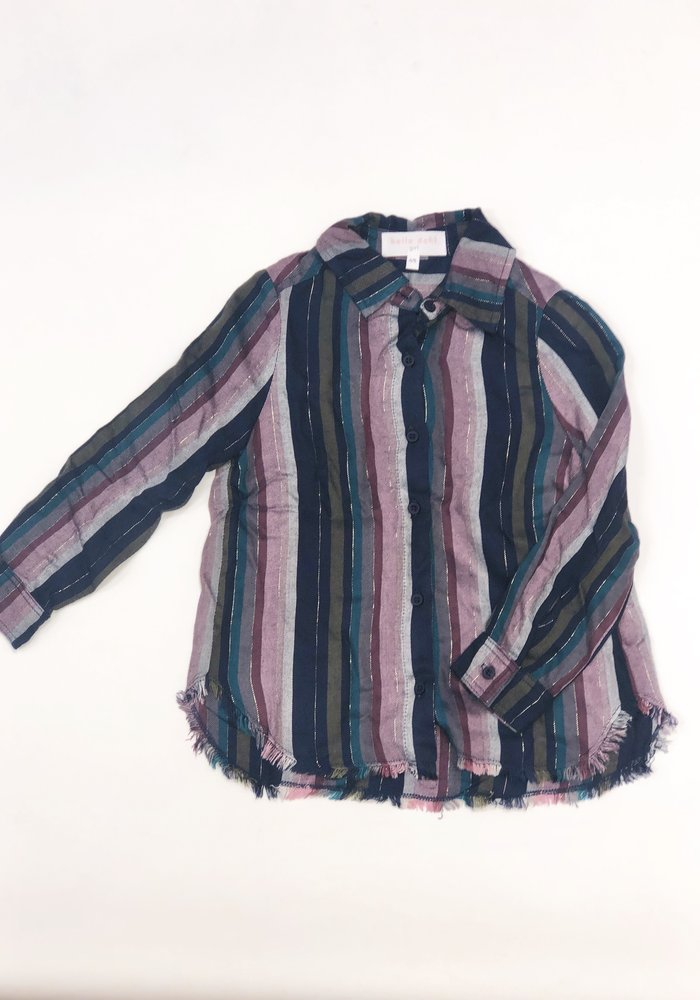Bella Dahl Fray Button Front Shirt