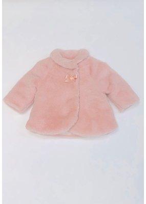 Mayoral Mayoral Pink Fur Coat