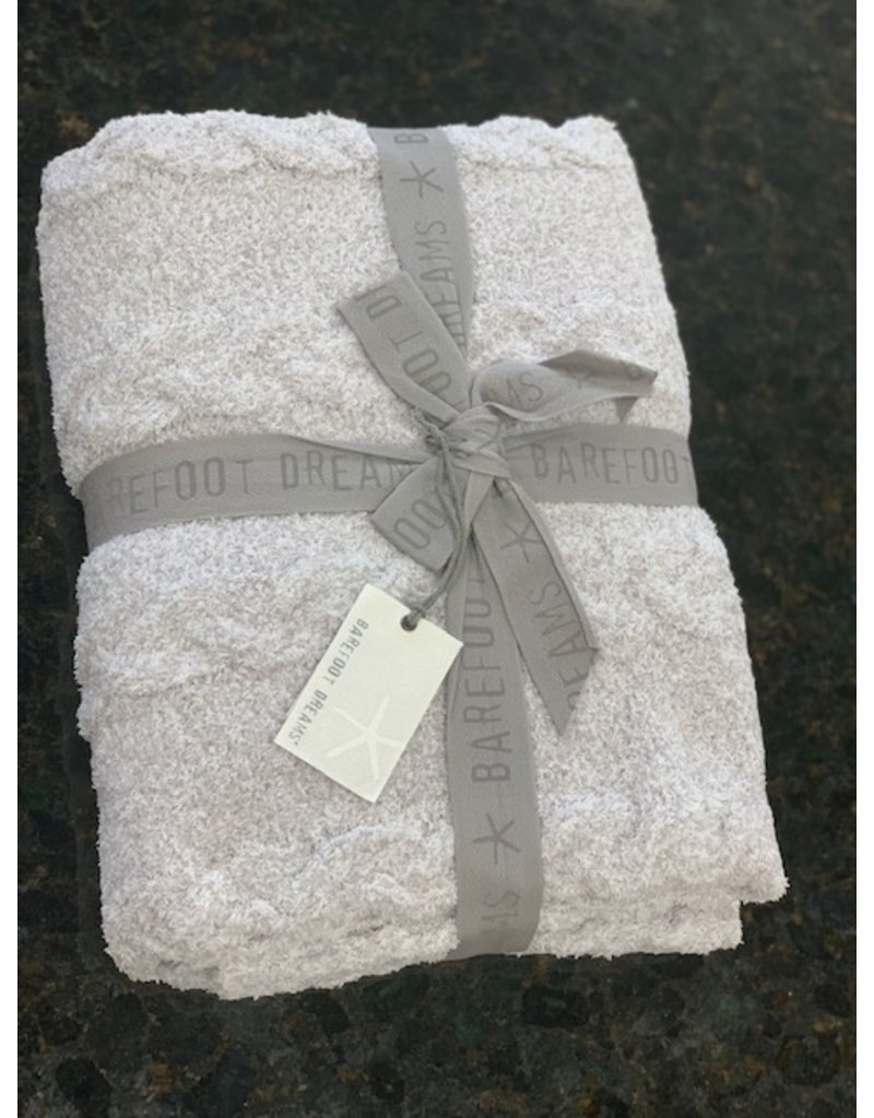 Barefoot Dreams Barefoot Dreams Cozychic Lite Heathered Cable Blanket