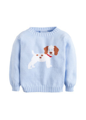 Little English Little English Puppy Intarsia Sweater