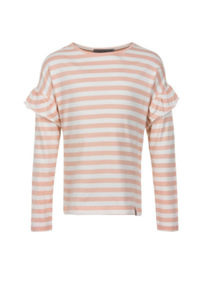 Creamie Creamie Rose/White Striped T Shirt