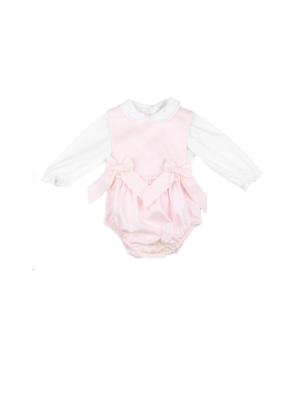 Sophie & Lucas Sophie & Lucas Classic 2pc Girls Pink Overall