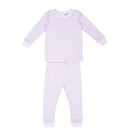 Lila and Hayes Lila and Hayes Ava 2 piece Girl Pajama Pink Bows