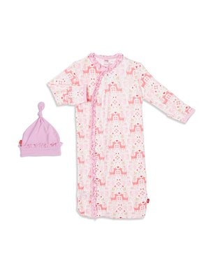 Magnetic Baby Magnetic Baby Flora and Fawna Magnetic Sack Gown Set NB-3M