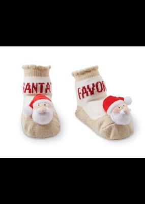 Mudpie Santa Rattle Toe Socks