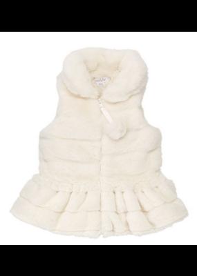 Mudpie Ivory Fur Vest L