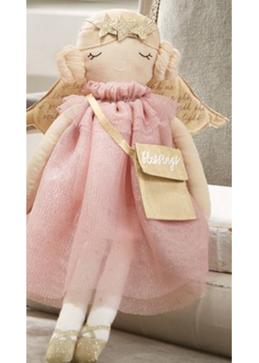 Mudpie Pink Dress Angel Doll