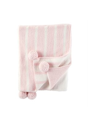 Mudpie Pink Color Block Blanket