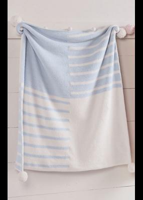 Mudpie Blue Color Block blanket
