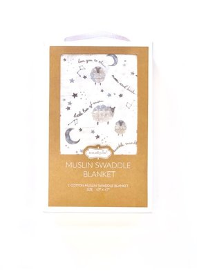 Mudpie Counting Sheep Muslin Swaddle