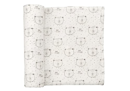 Mudpie Muslin Bear Hugs Swaddle