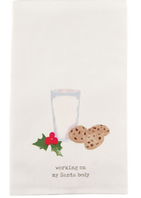 Mudpie Milk & Cookie Icon Tea Towel