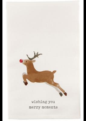 Mudpie Reindeer Icon Tea Towel
