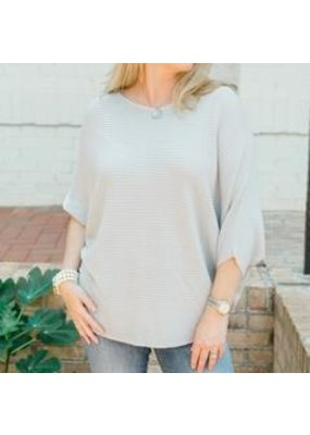 Cobblestone Living Cobblestone Living Claudia Ribbed Pull Over (more colors available)