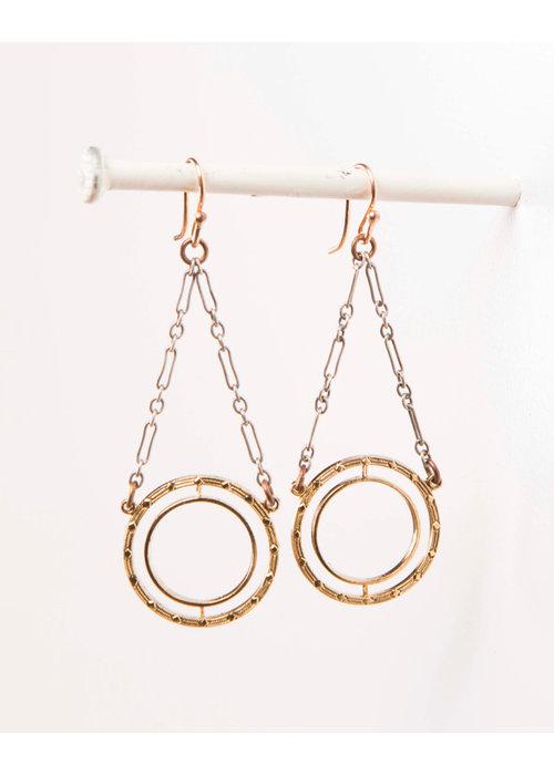 Mark Edge Mark Edge Vintage Circular Loop/Sterling Silver Earrings