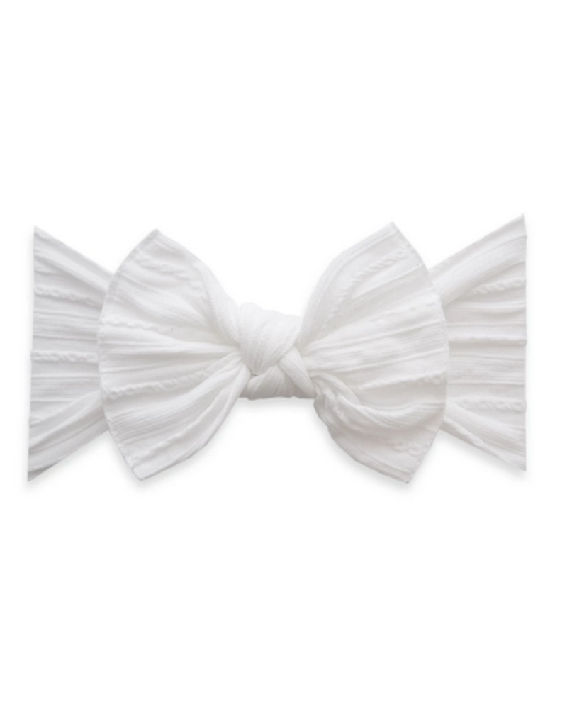 Baby Bling Cable Knit Knot Bow (more colors avialable)