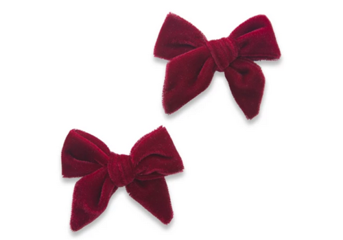 Baby Bling Baby Bling 2 pack Velvet Knot Bow Clip (more colors available)